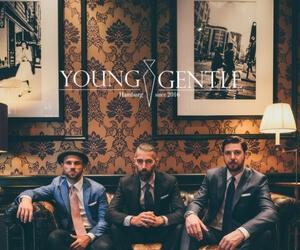 Banner 3 männer, Young & Gentle