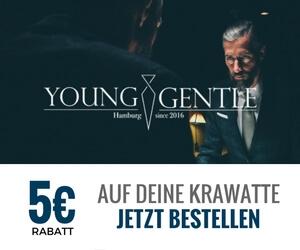 Banner 5 euro, Young & Gentle Krawatten