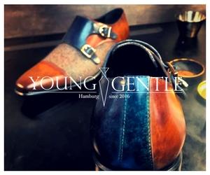 Banner Designe Schuhe, Banner 3 männer, Young & Gentle